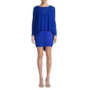 H Halston Size 4 Cape Mini Dress